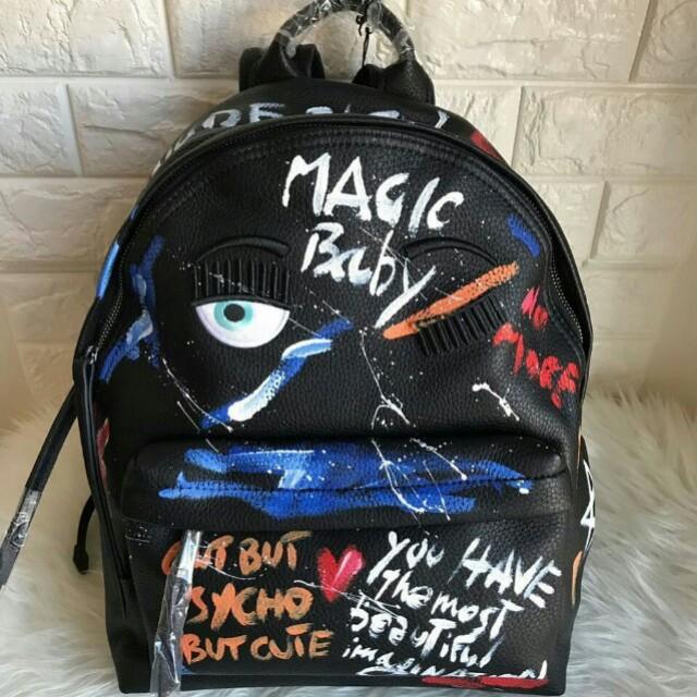 Chiara Ferragni Backpack Paint Graphic