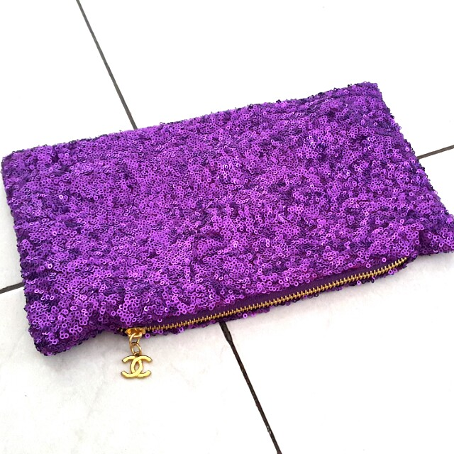 Clutch sequin/payet ala chanel (100rb 3)