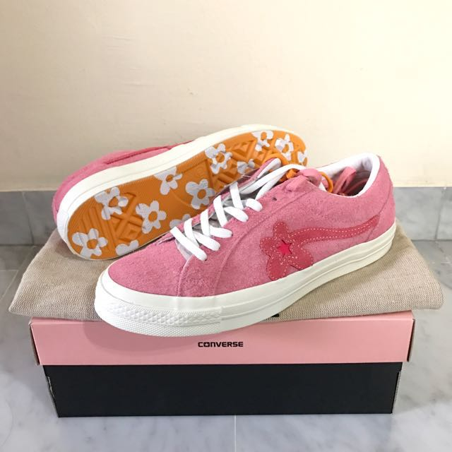 3c69894c273344 Converse x golfwang pink red flower US9