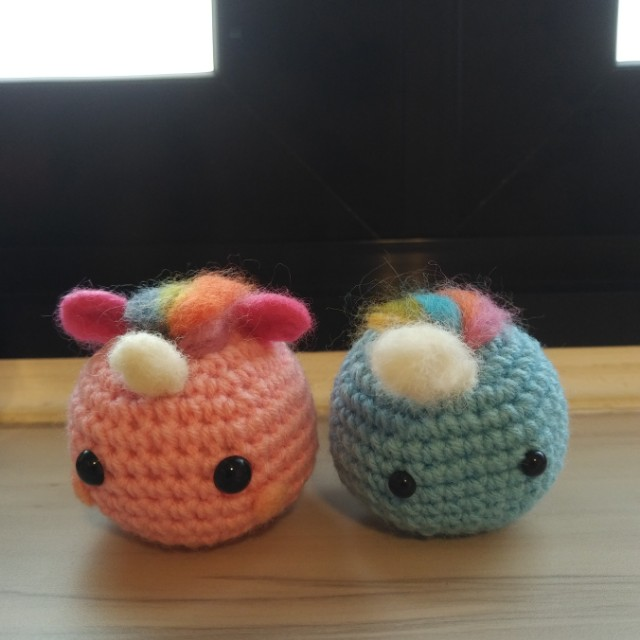 Crochet Unicorn Narwhal Design Craft Handmade Craft On Carousell