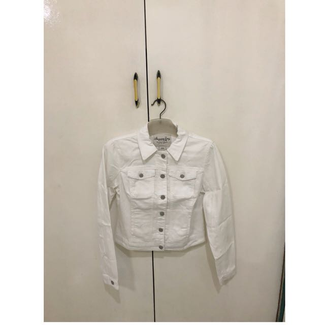 Denim Jacket (White)