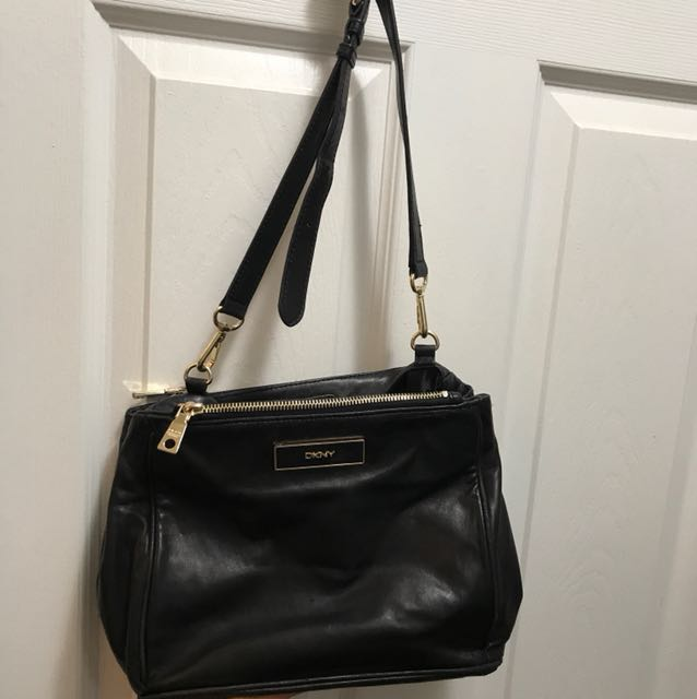 DKNY soft leather cross body bag - classic style