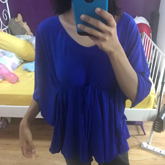 Doll Top batwing blue