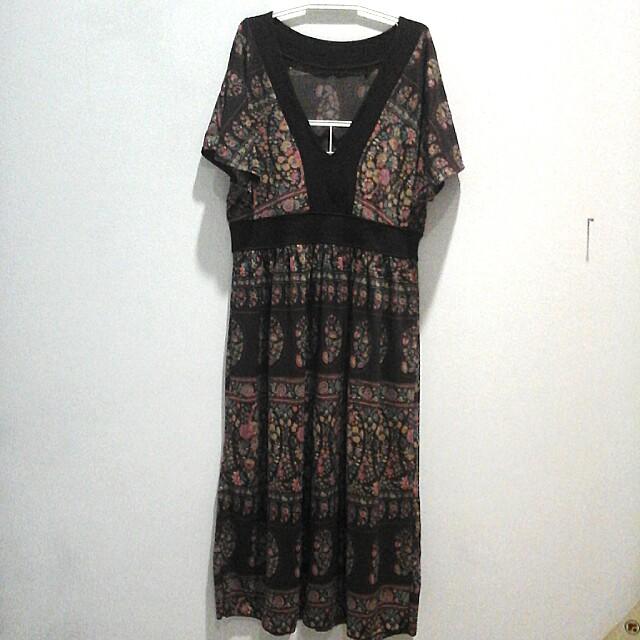 Dress kembang2 (100rb 3)