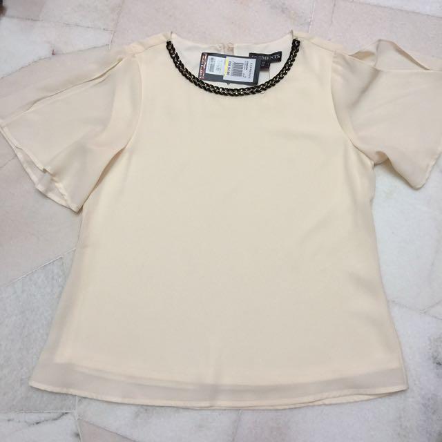 Elegant Korean Style Blouse Top (ELEMENTS BOUTIQUE)