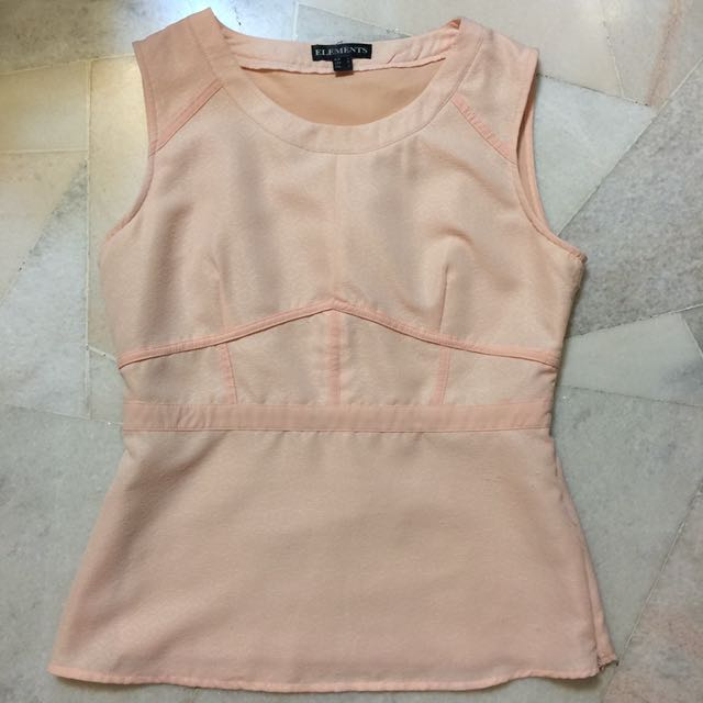 ELEMENTS BOUTIQUE Pink Sleeveless Blouse