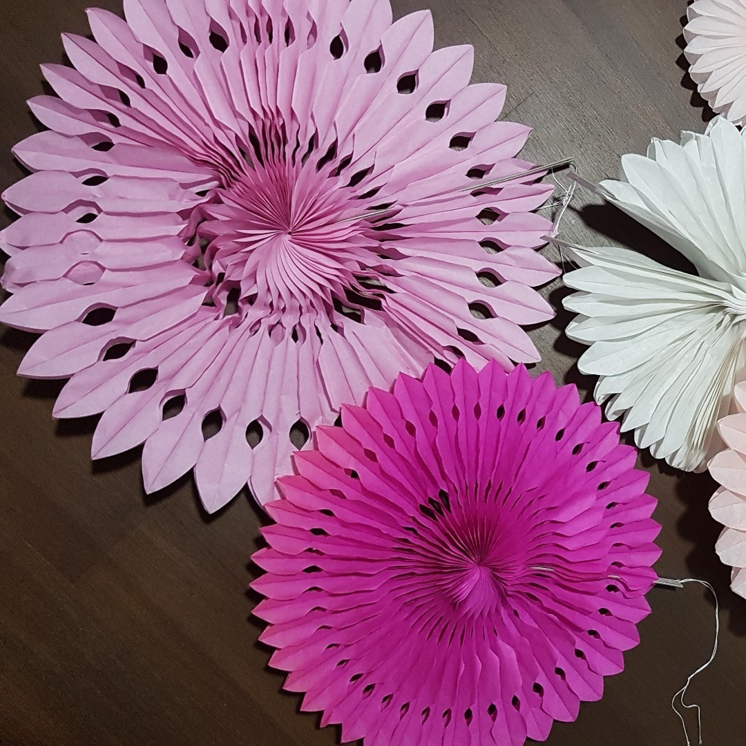 Europe Paper Fan Flowers Design Craft Others On Carousell