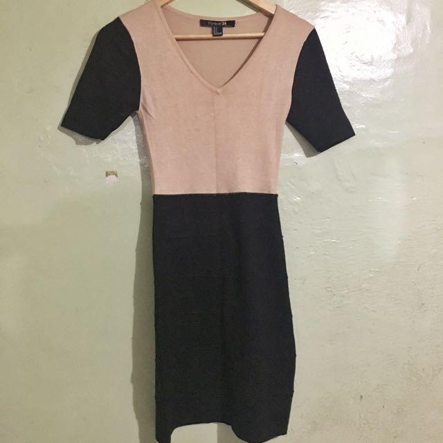 F21 knit Office dress