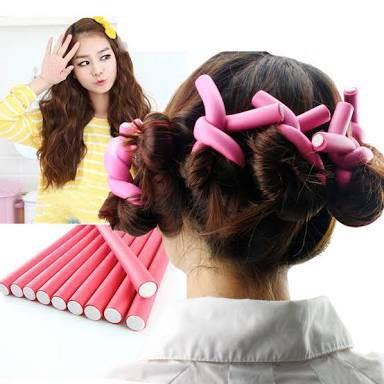 Foam hair rollers x 12