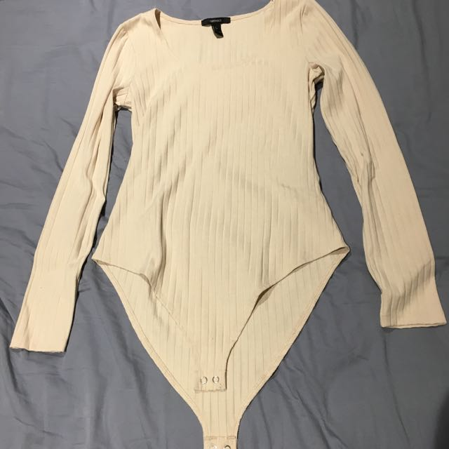 Forever 21 Nude ribbed bodysuit