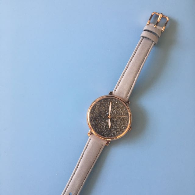 Fossil Jacqueline Three-hand Graystone Leather Watch