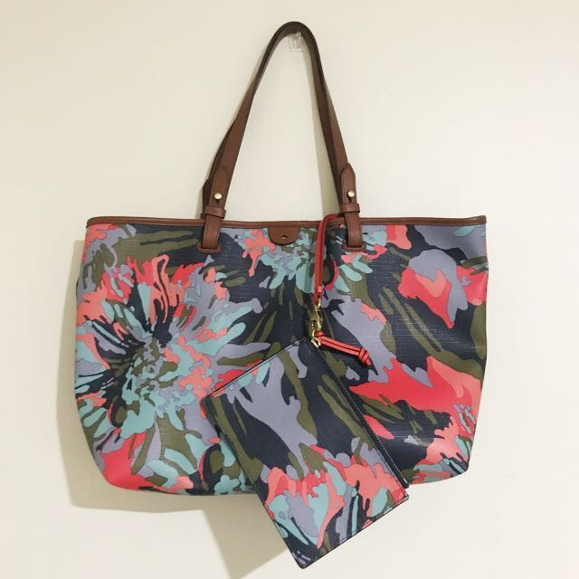 Fossil Rachel Tote (Floral)