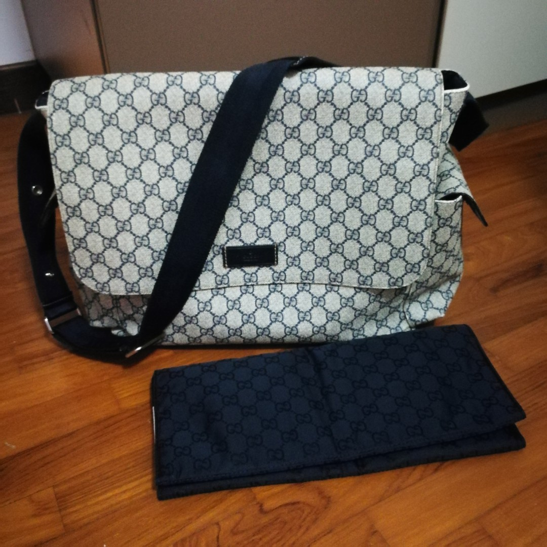 50ff61177af3 Gucci Diaper Bag in Canvas on Carousell