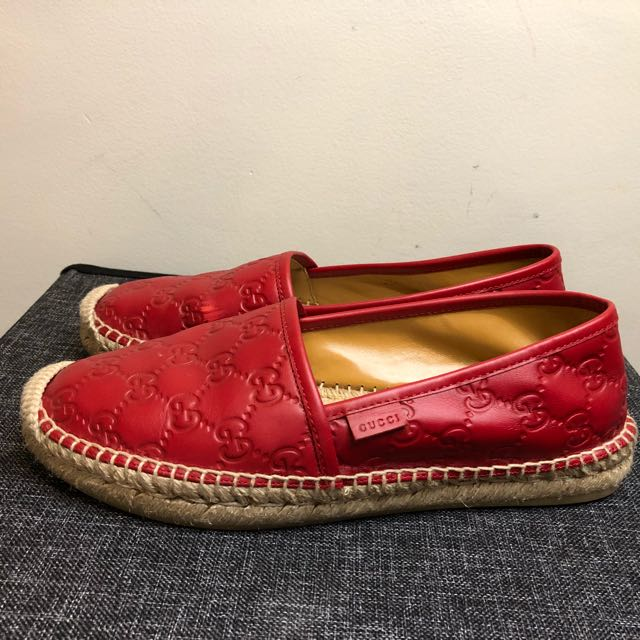 Gucci Red Espadrille