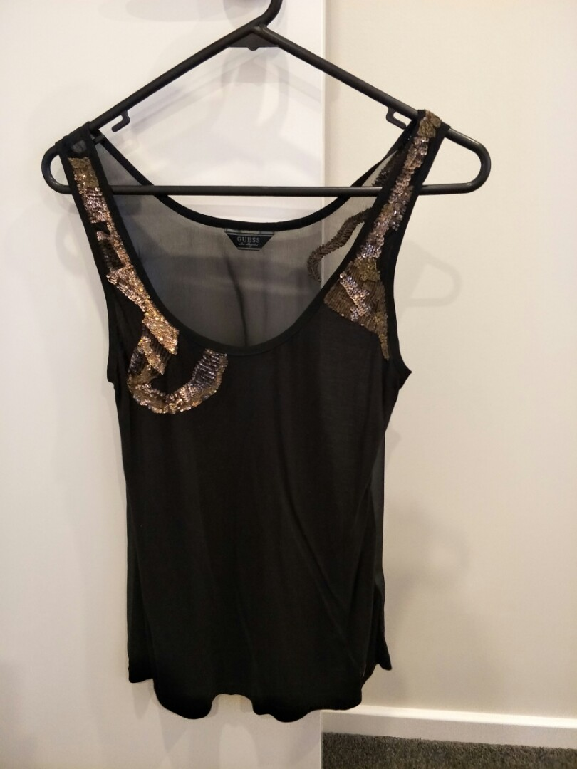 guess glam party top
