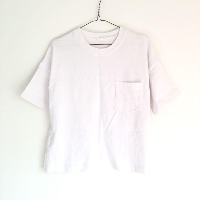 GU厚磅短袖短版T恤 M號 (Uniqlo副牌)