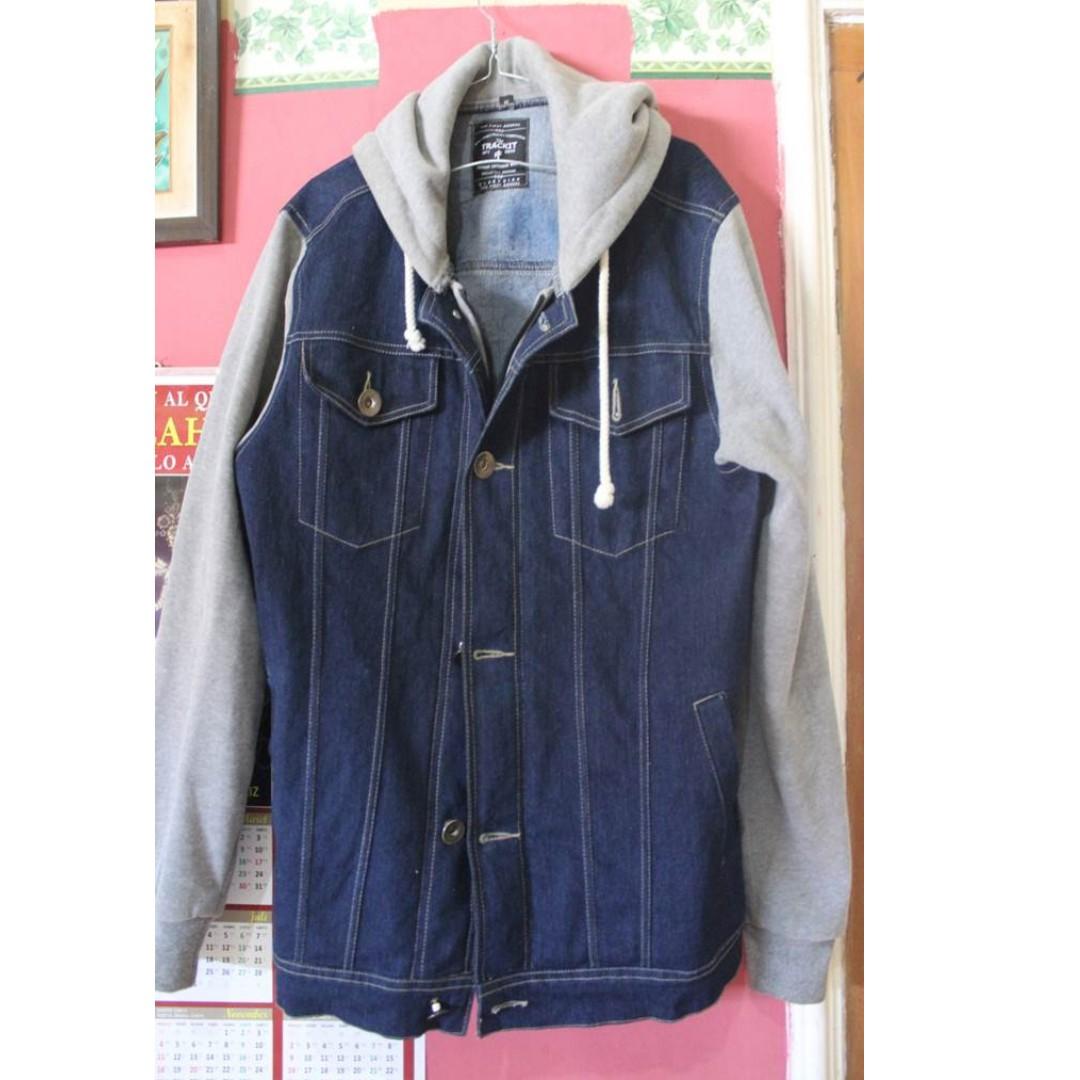 Jual Jaket Levis Berkupluk Welcome To Jean Pria Jeans Biru Tua Jak 2044 H01 Trucker Denim Hoodie By Bloopendorse Preloved Fesyen