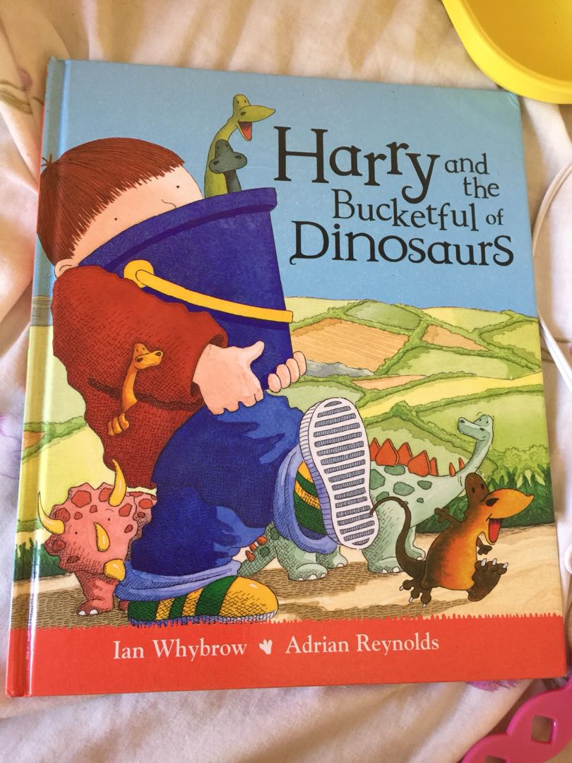 Harry and a bucketful of dinosaurs