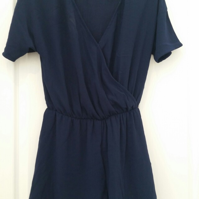 H&M navy blue playsuit