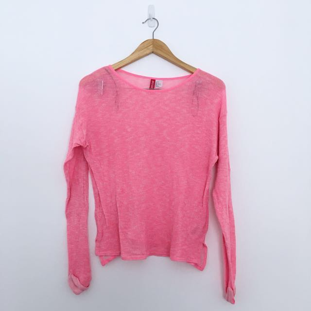 H&M Pink Sheer Sweater