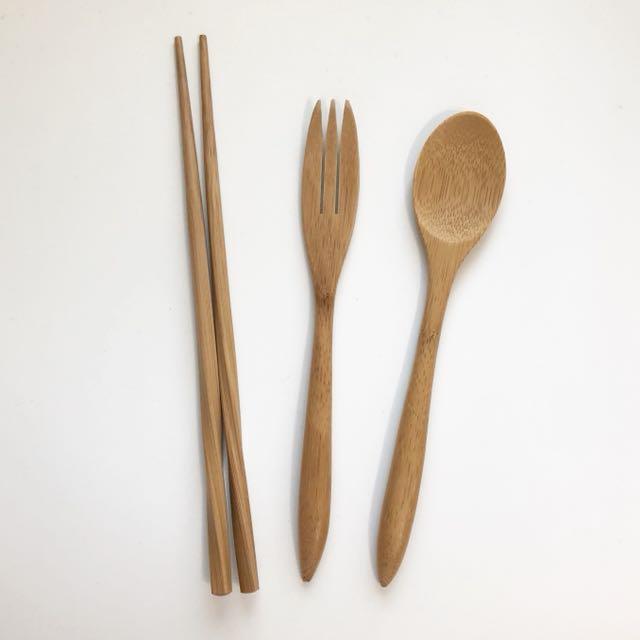 Home.竹製餐具三件組