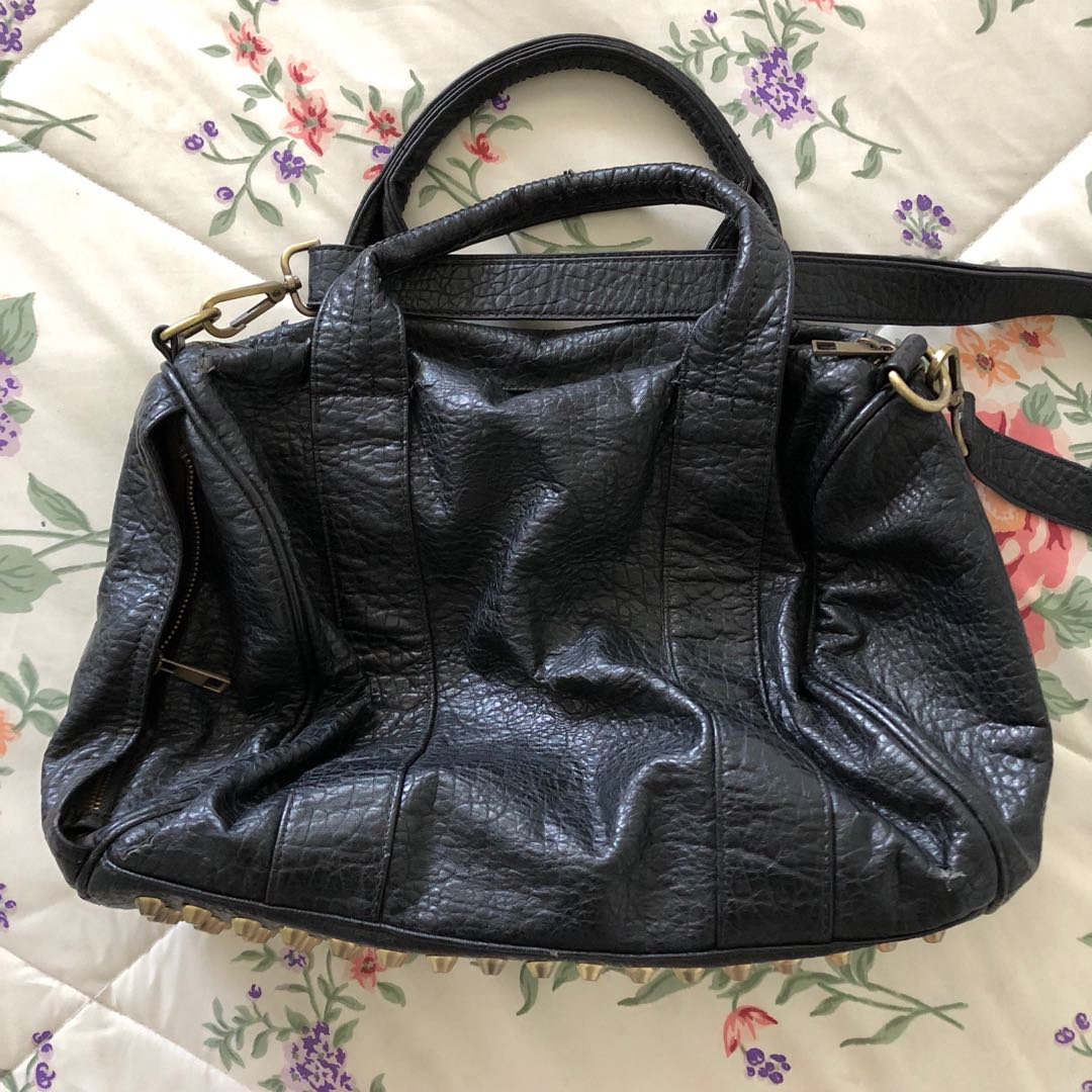 Imported Leather studded bag