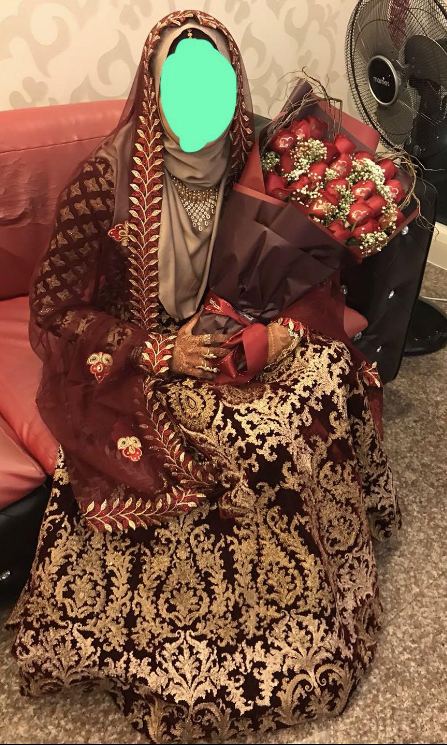 Indian Bridal Gown For Rental Hijabi Friendly Indian Muslim