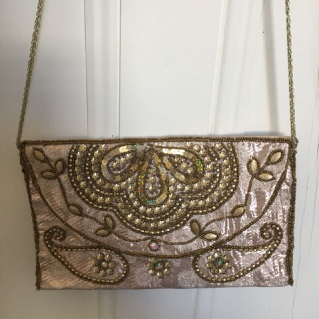Indian embroidery clutch bag never used