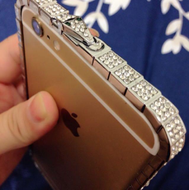蛇鑽邊框質感手機殼(Iphone6plus)