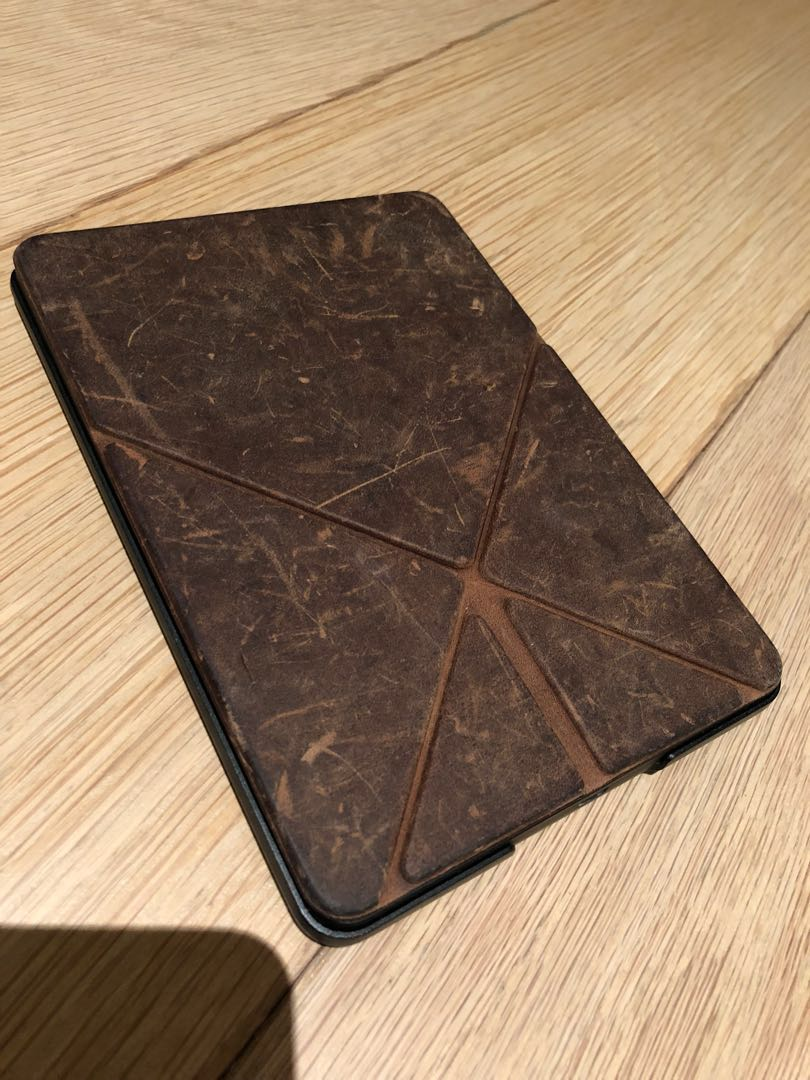 Kindle Voyage 3G + Wifi - no ads - leather cover