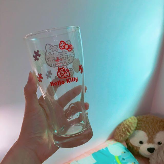 ⚫️KITTY 40週年經典玻璃曲線杯