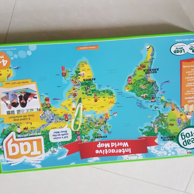 Leap Frog Interactive World Map Toys Games Others On Carousell