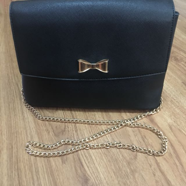 Leather Bag with Bow