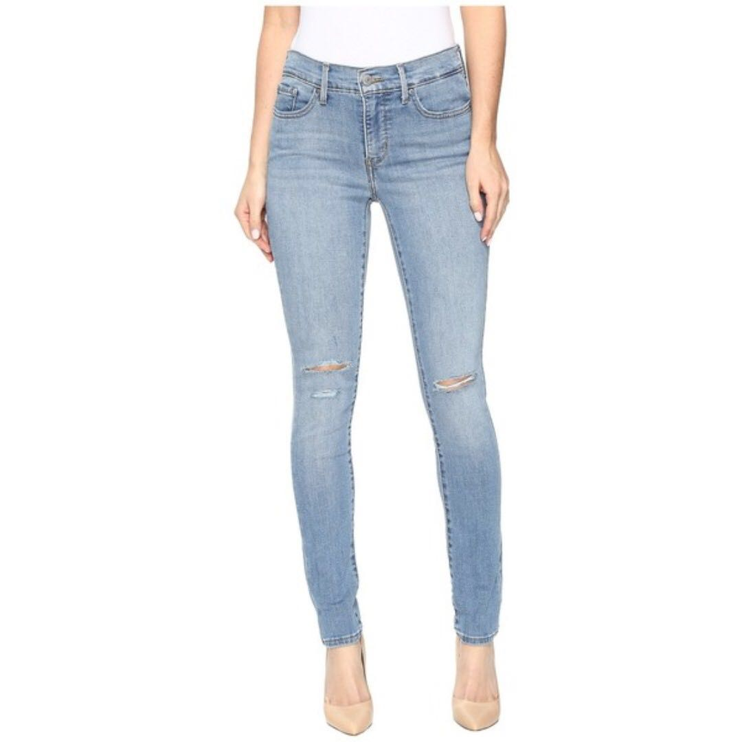 LEVI'S 311 Shaping Skinny Ripped Knee Jeans + Free H&M Belt
