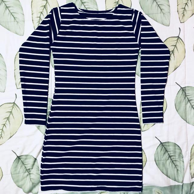 Longsleeve Stripes Bodycln Dress