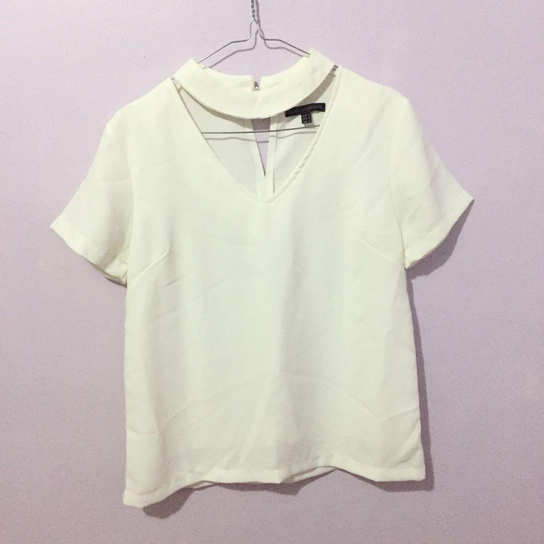Lookboutiquestore white choker blouse top
