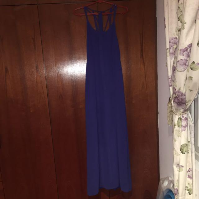 Love bonito dress blue maxi small
