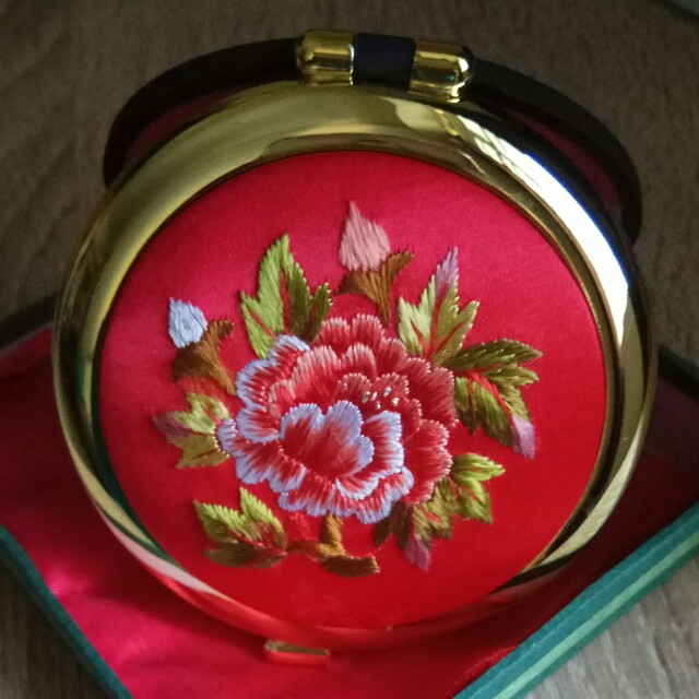 Made in korea pocket Mirror- Embroidered