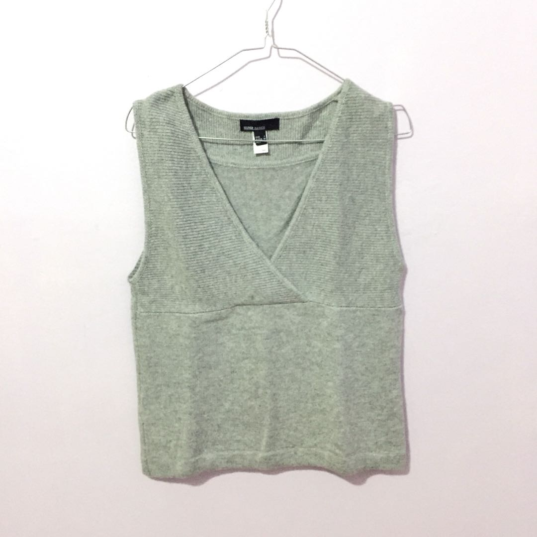 Mango knitted vest rompi outer tank