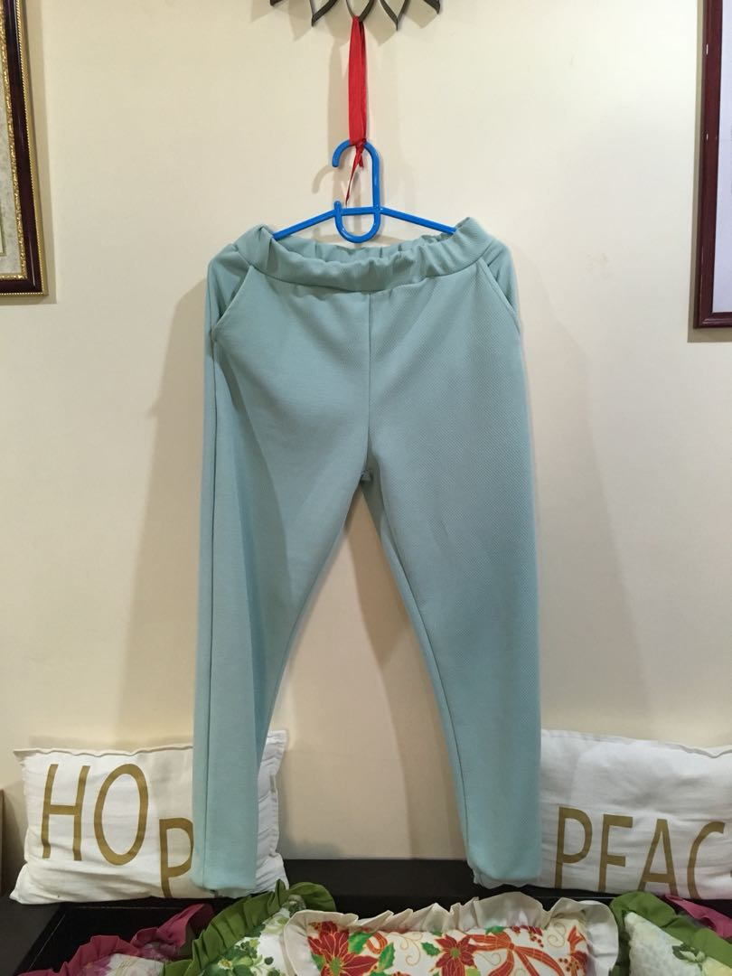 Mint green soft pants