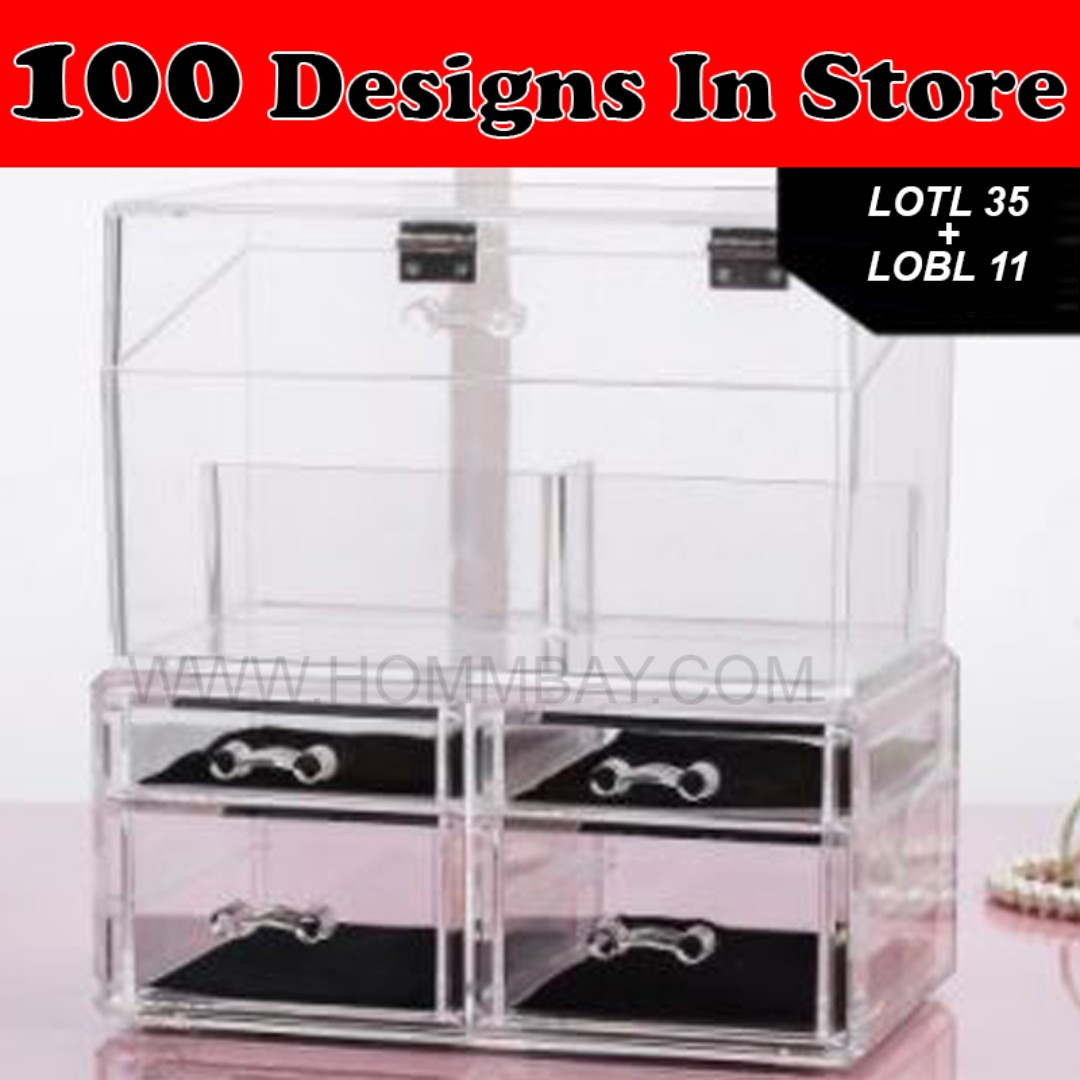 clear acrylic transparent make up makeup cosmetic jewellery jewelry