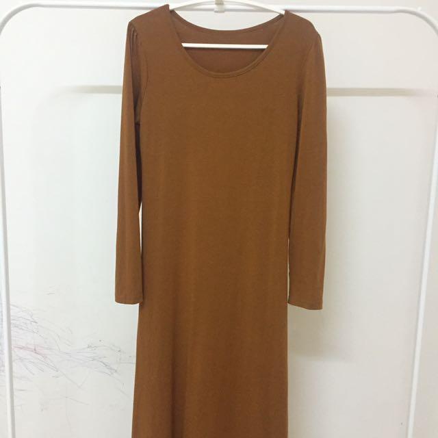 Mustard long dress