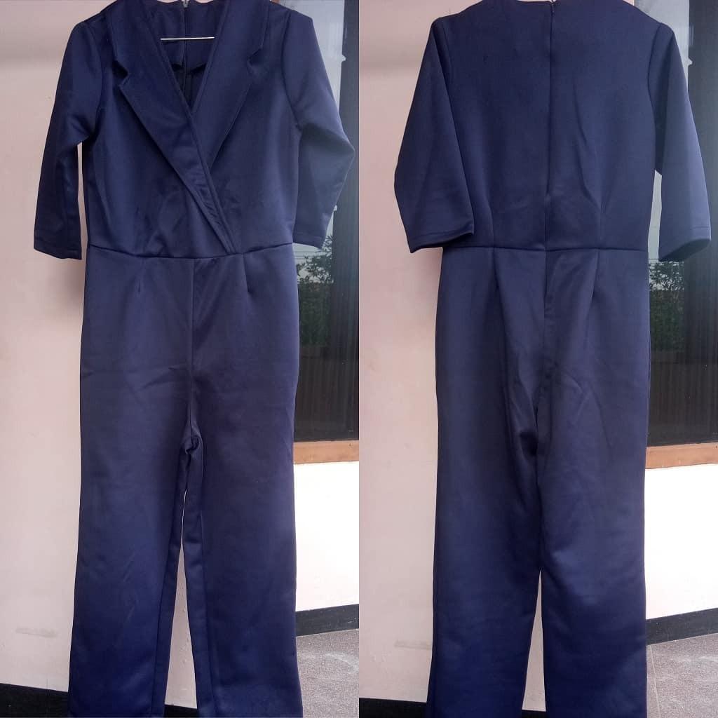 Navy long jumpsuit