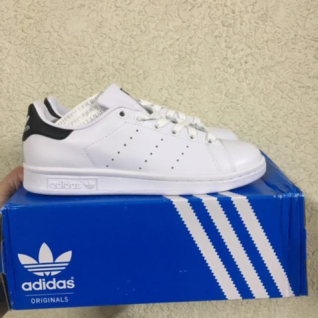 (New) adidas Stan smith 黑尾 小白鞋 us7