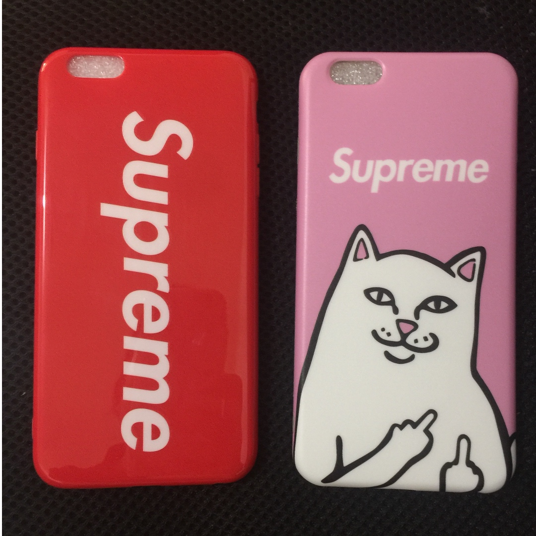 NEW Pink Bad Cat Matte & Red Supreme Glossy IPhone 6/6S Plus case