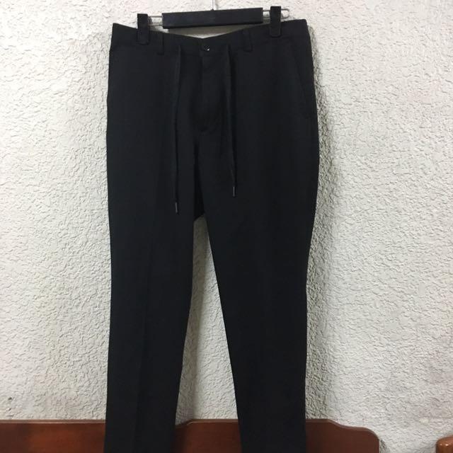 (New) rare 韓國品牌 黑色 抽繩褲 可參考Plainme 1616 m號
