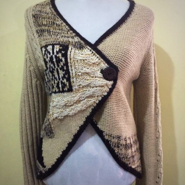 NEXT light brown and brown cardigan