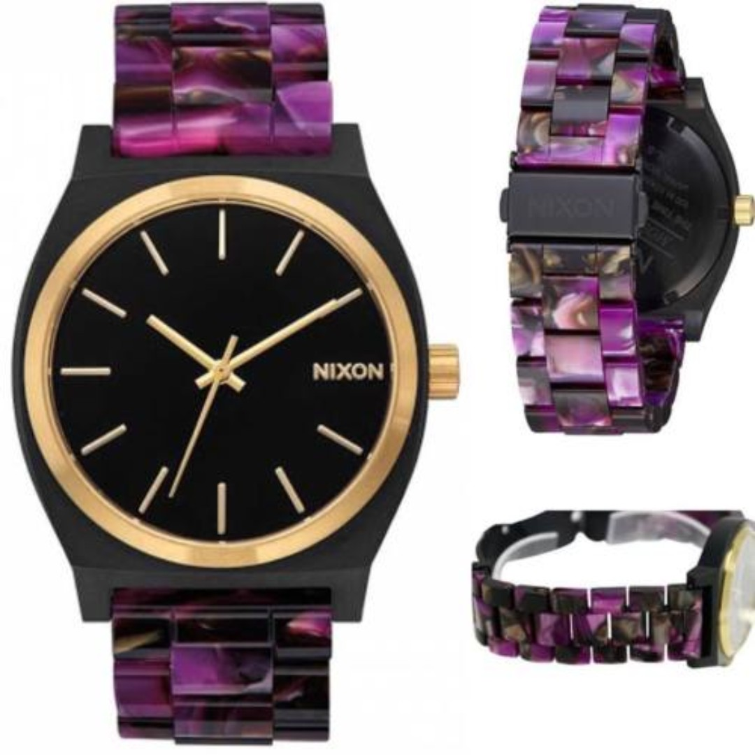 watch time black teller gallery men lyst for nixon in product accessories watches