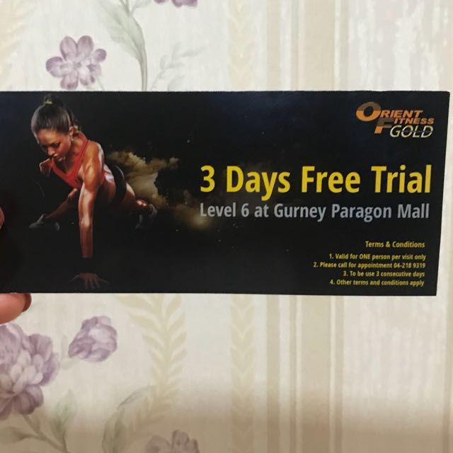 Orient Fitness Gold 3 days free trial