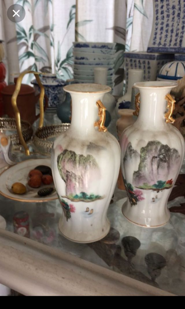 Oriental Vases Vintage Collectibles Vintage Collectibles